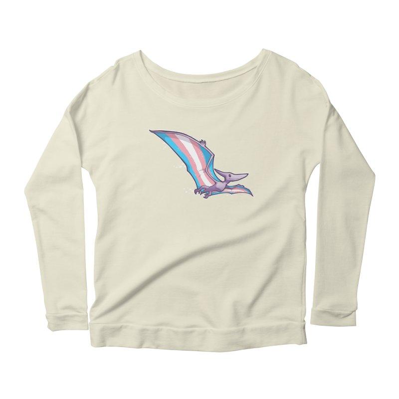 Transdactyl Women's Scoop Neck Longsleeve T-Shirt by Marty's Artist Shop