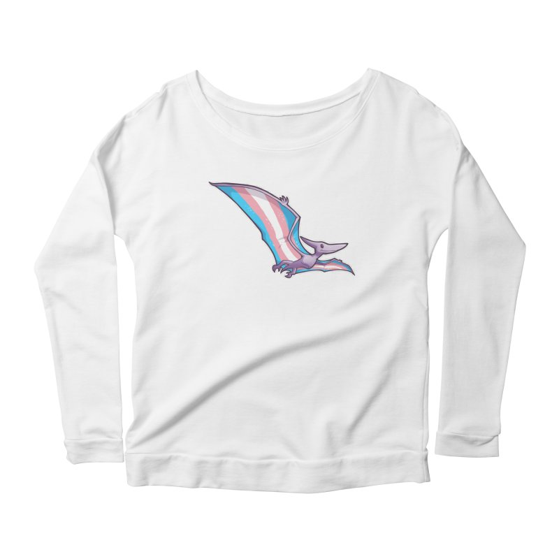 Transdactyl Women's Scoop Neck Longsleeve T-Shirt by Marty's Artist Shop