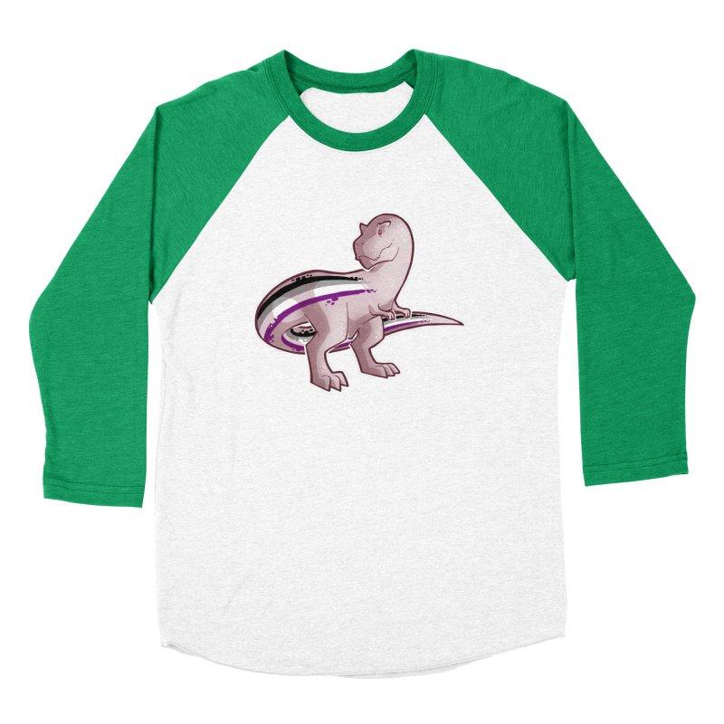 TyrannACEsaurus Men's Baseball Triblend Longsleeve T-Shirt by Marty's Artist Shop