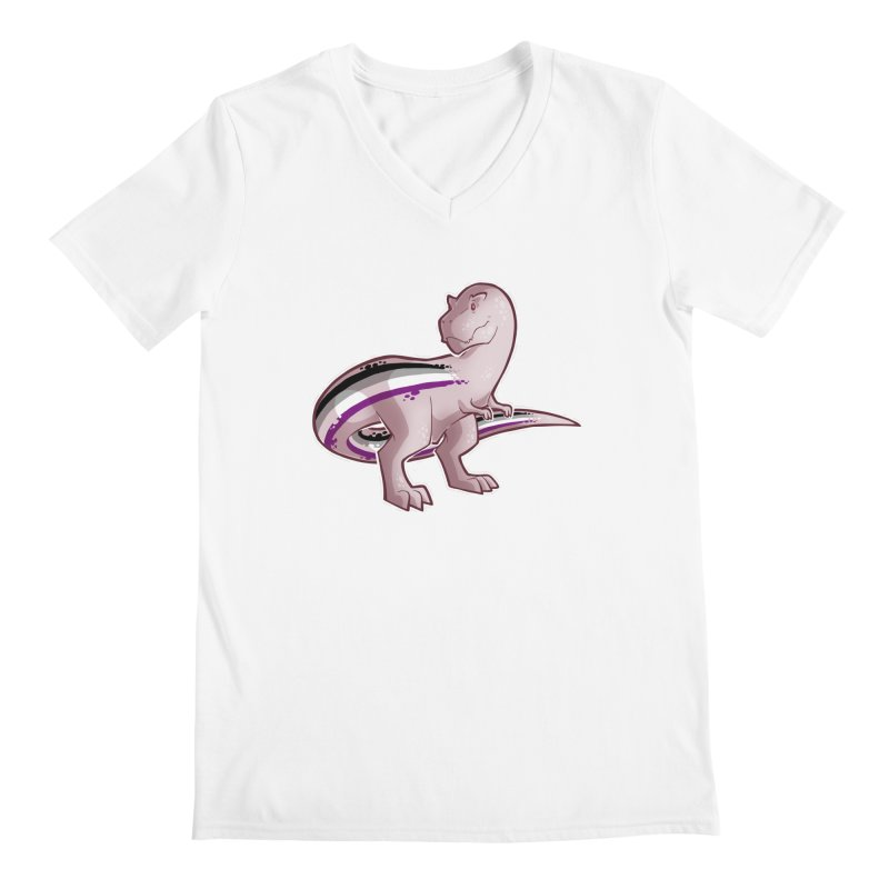 TyrannACEsaurus Men's V-Neck by Marty's Artist Shop