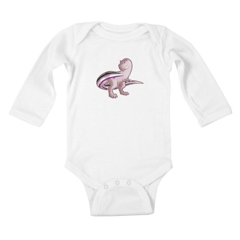 TyrannACEsaurus Kids Baby Longsleeve Bodysuit by Marty's Artist Shop