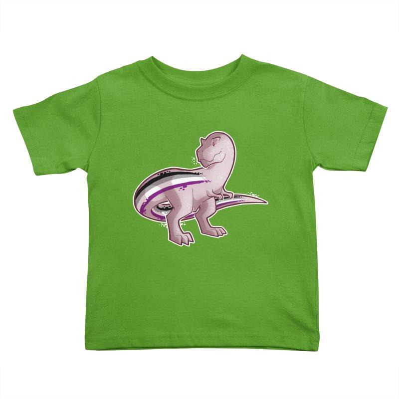 TyrannACEsaurus Kids Toddler T-Shirt by Marty's Artist Shop