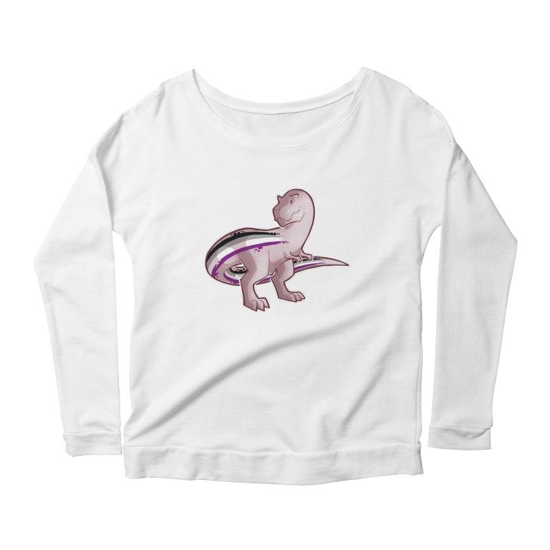 TyrannACEsaurus Women's Scoop Neck Longsleeve T-Shirt by Marty's Artist Shop