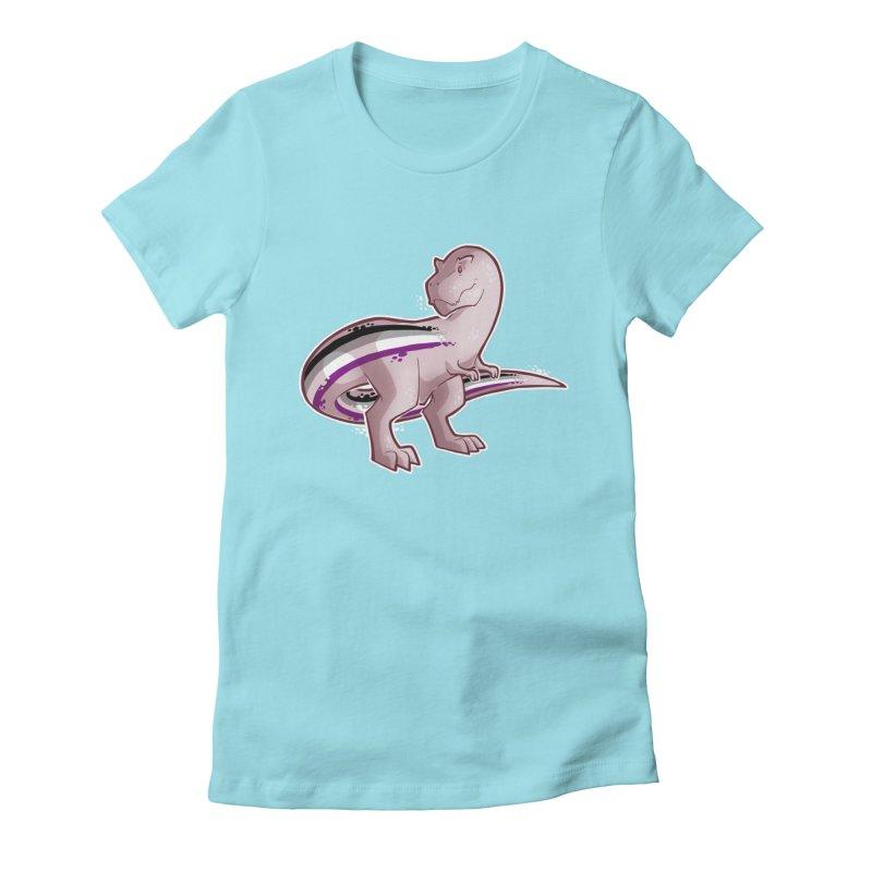 TyrannACEsaurus Women's Fitted T-Shirt by Marty's Artist Shop