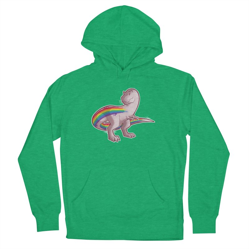 Priderannosaurus Men's French Terry Pullover Hoody by Marty's Artist Shop