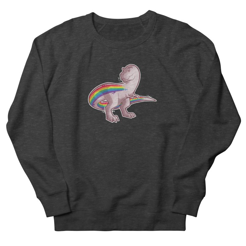 Priderannosaurus Men's French Terry Sweatshirt by Marty's Artist Shop
