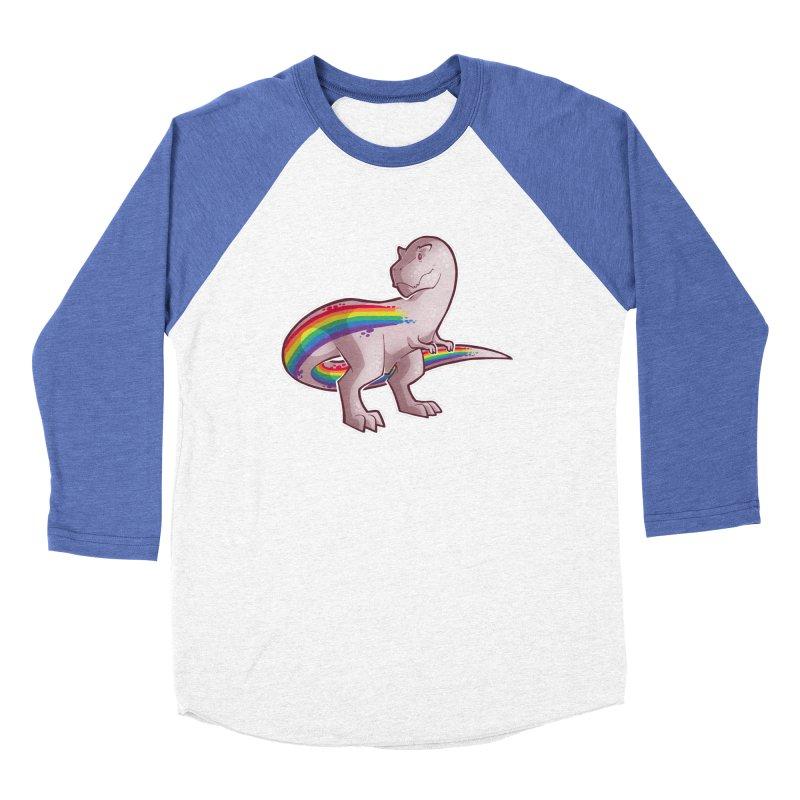 Priderannosaurus Women's Baseball Triblend Longsleeve T-Shirt by Marty's Artist Shop