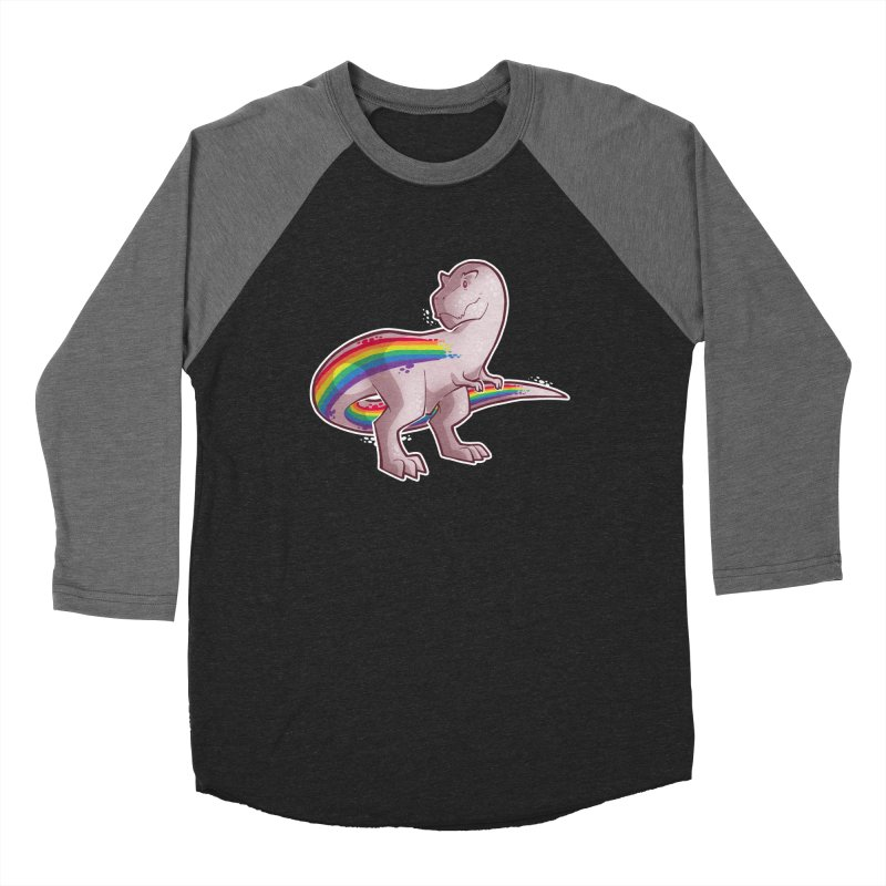 Priderannosaurus Men's Baseball Triblend Longsleeve T-Shirt by Marty's Artist Shop