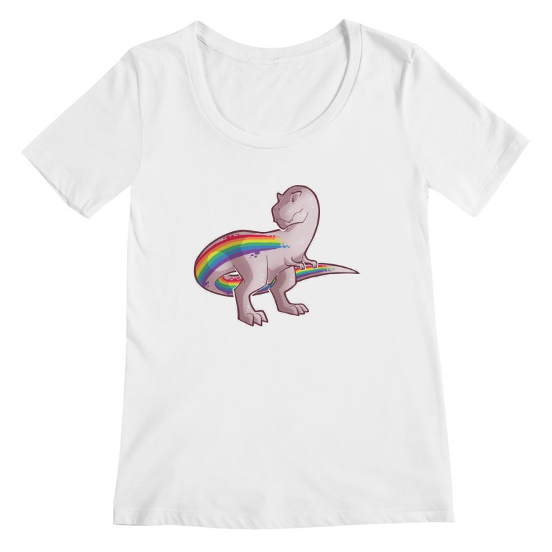 Priderannosaurus Women's Regular Scoop Neck by Marty's Artist Shop