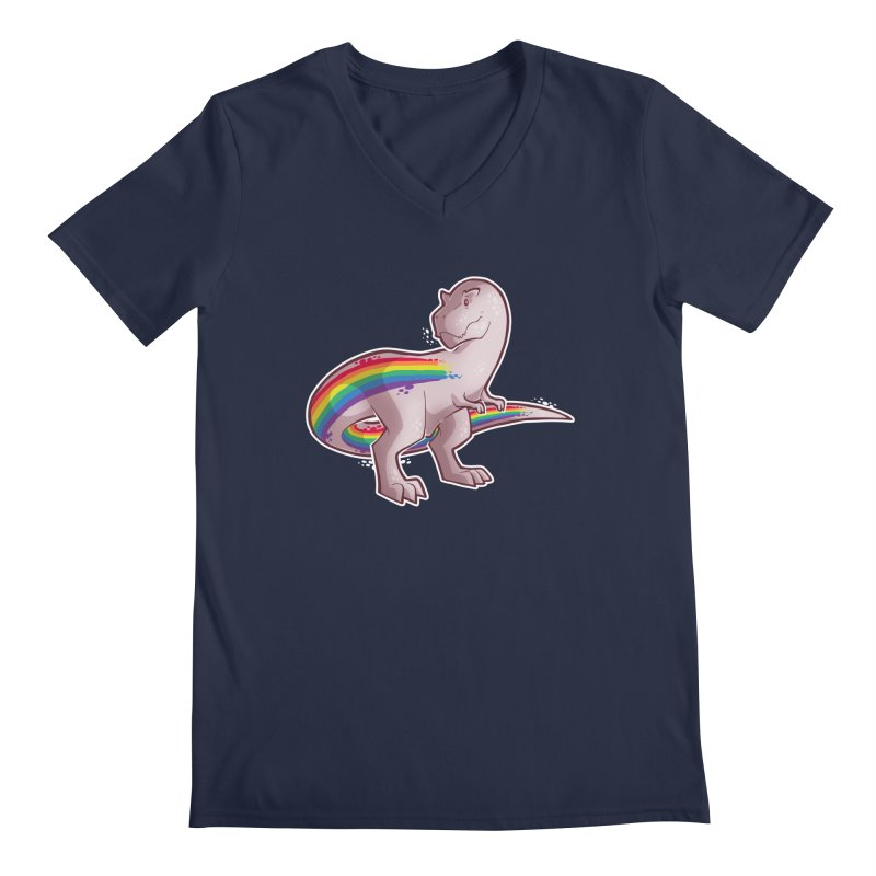 Priderannosaurus Men's V-Neck by Marty's Artist Shop