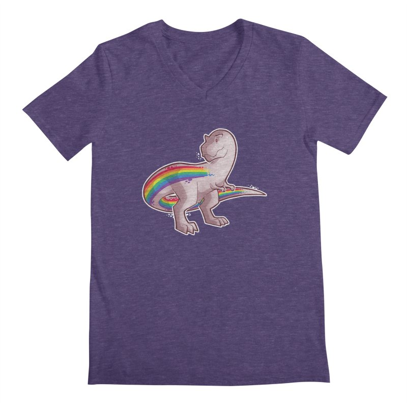 Priderannosaurus Men's V-Neck by Marty's Artist Shop