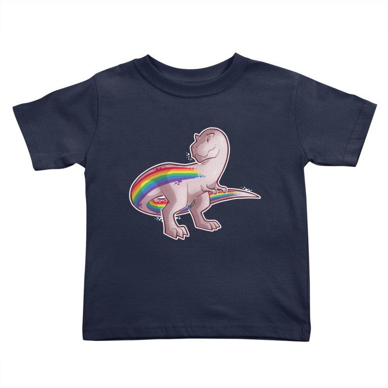 Priderannosaurus Kids Toddler T-Shirt by Marty's Artist Shop