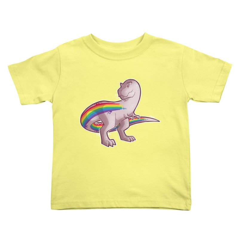 Priderannosaurus Kids Toddler T-Shirt by Marty's Artist Shop