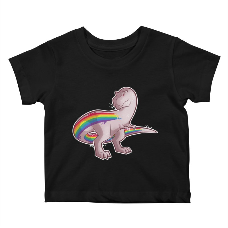 Priderannosaurus Kids Baby T-Shirt by Marty's Artist Shop