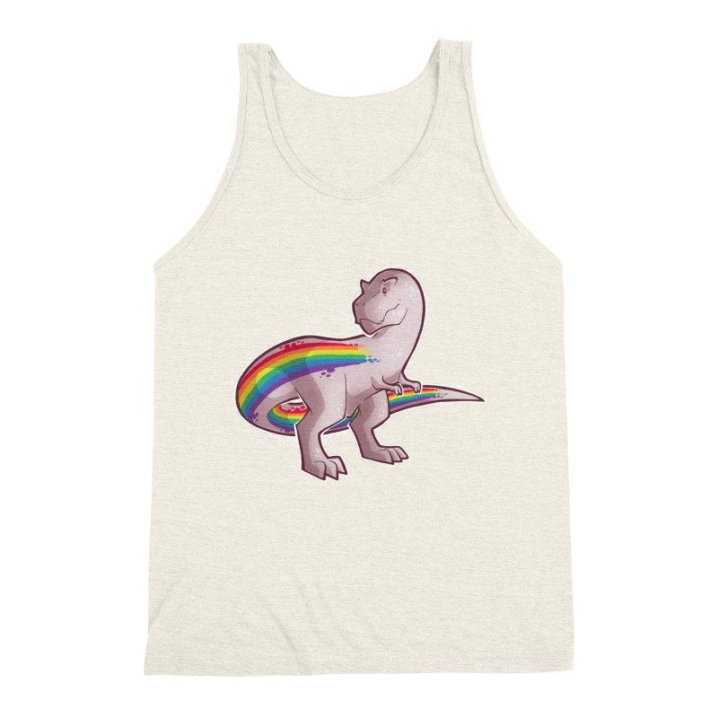 Priderannosaurus Men's Triblend Tank by Marty's Artist Shop