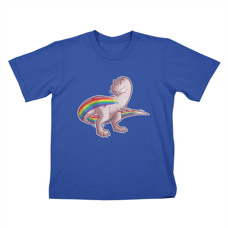 Priderannosaurus Kids T-Shirt by Marty's Artist Shop