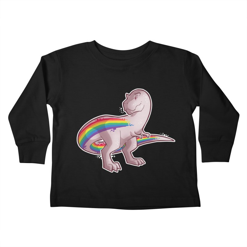 Priderannosaurus Kids Toddler Longsleeve T-Shirt by Marty's Artist Shop