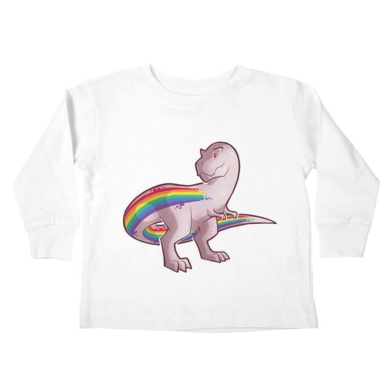 Priderannosaurus Kids Toddler Longsleeve T-Shirt by Marty's Artist Shop