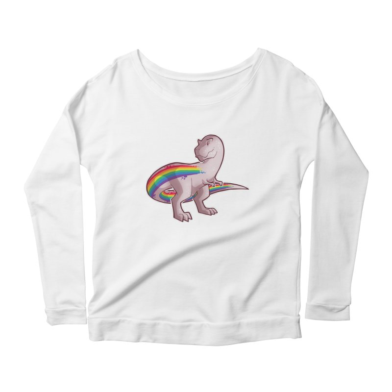 Priderannosaurus Women's Scoop Neck Longsleeve T-Shirt by Marty's Artist Shop