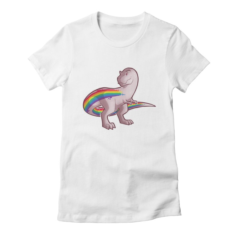 Priderannosaurus Women's Fitted T-Shirt by Marty's Artist Shop