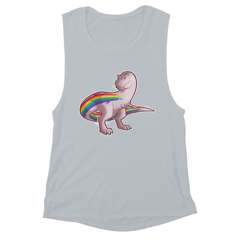 Priderannosaurus Women's Muscle Tank by Marty's Artist Shop