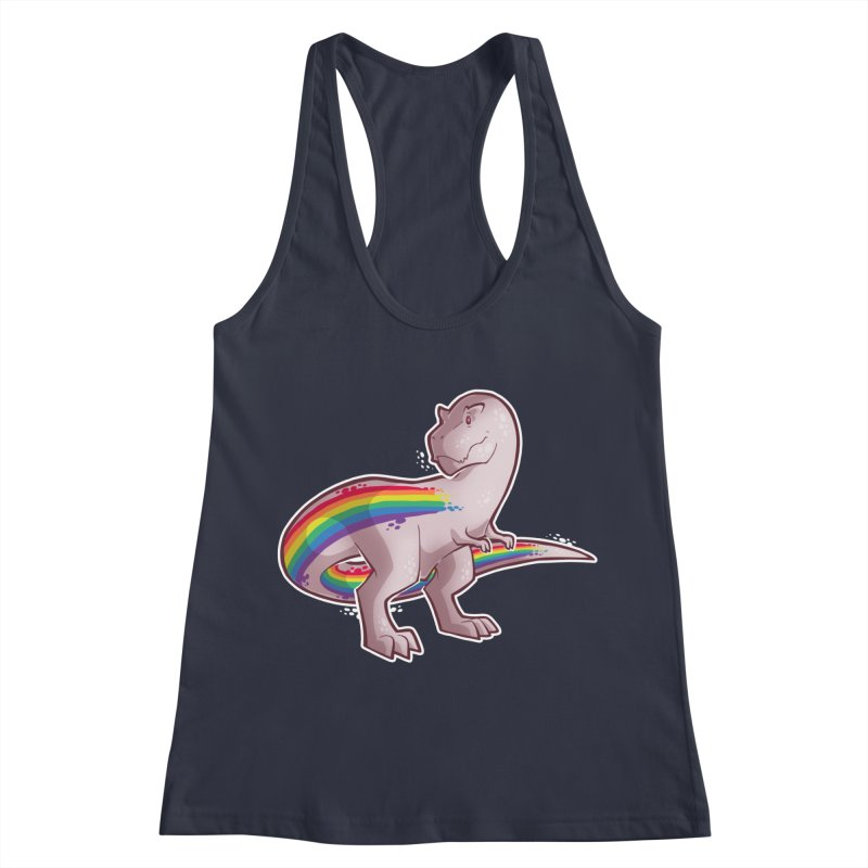 Priderannosaurus Women's Racerback Tank by Marty's Artist Shop