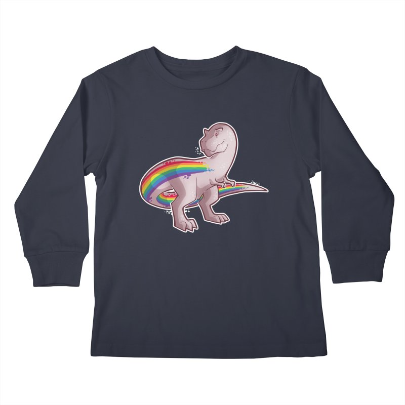Priderannosaurus Kids Longsleeve T-Shirt by Marty's Artist Shop
