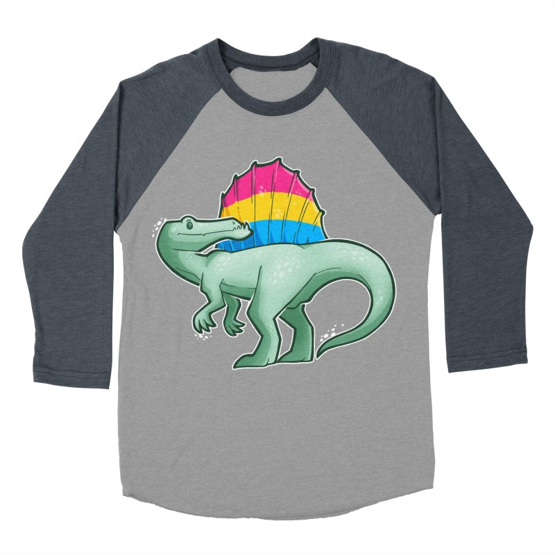 sPANosaurus Women's Baseball Triblend Longsleeve T-Shirt by Marty's Artist Shop