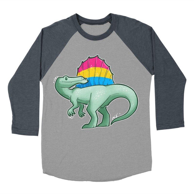 sPANosaurus Men's Baseball Triblend Longsleeve T-Shirt by Marty's Artist Shop