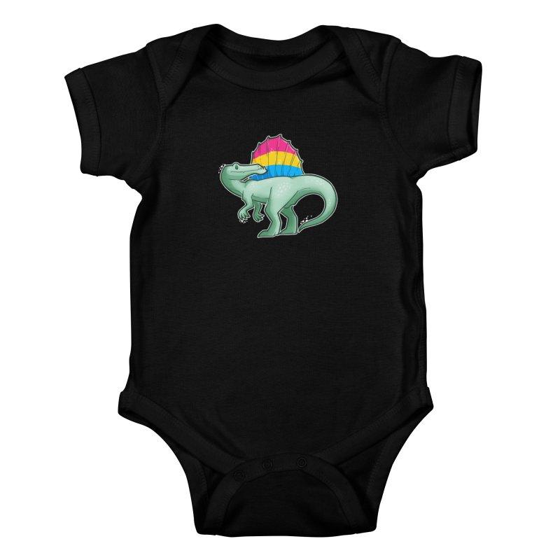 sPANosaurus Kids Baby Bodysuit by Marty's Artist Shop