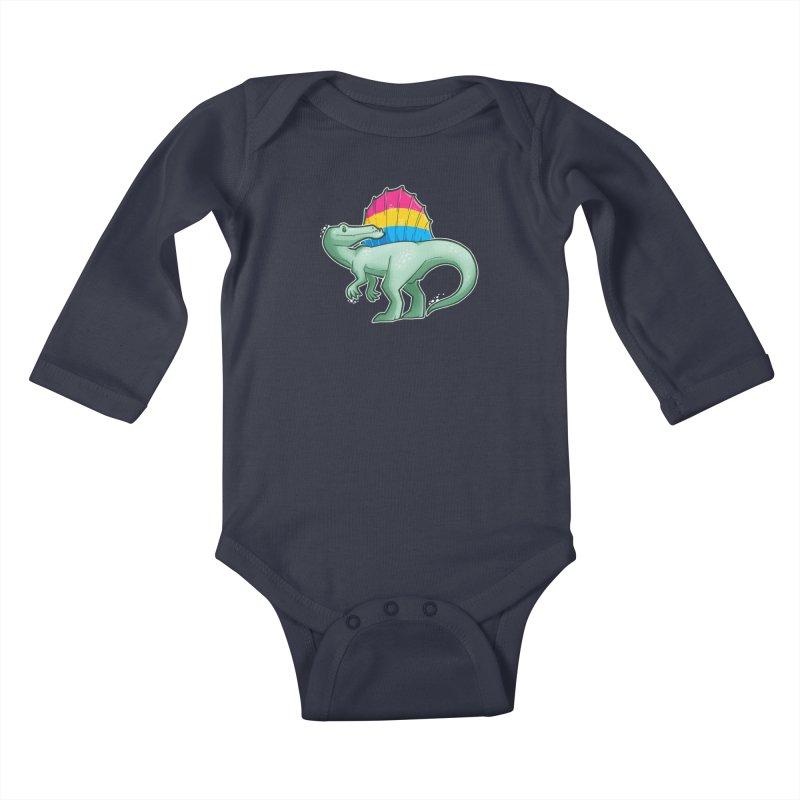 sPANosaurus Kids Baby Longsleeve Bodysuit by Marty's Artist Shop