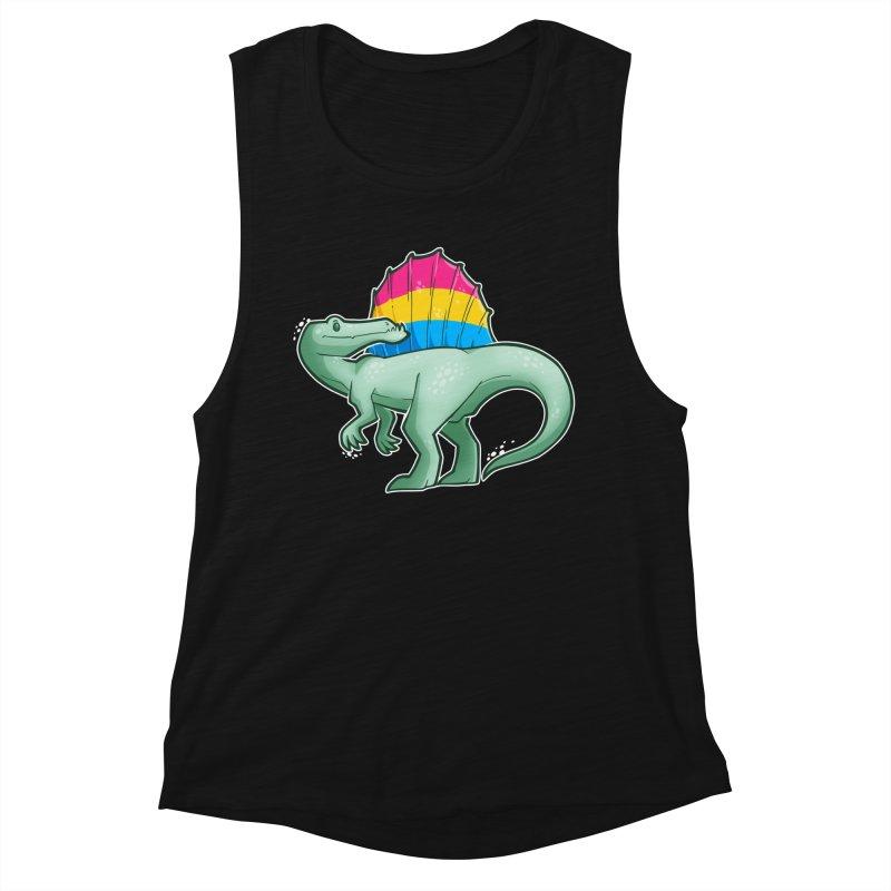 sPANosaurus Women's Muscle Tank by Marty's Artist Shop