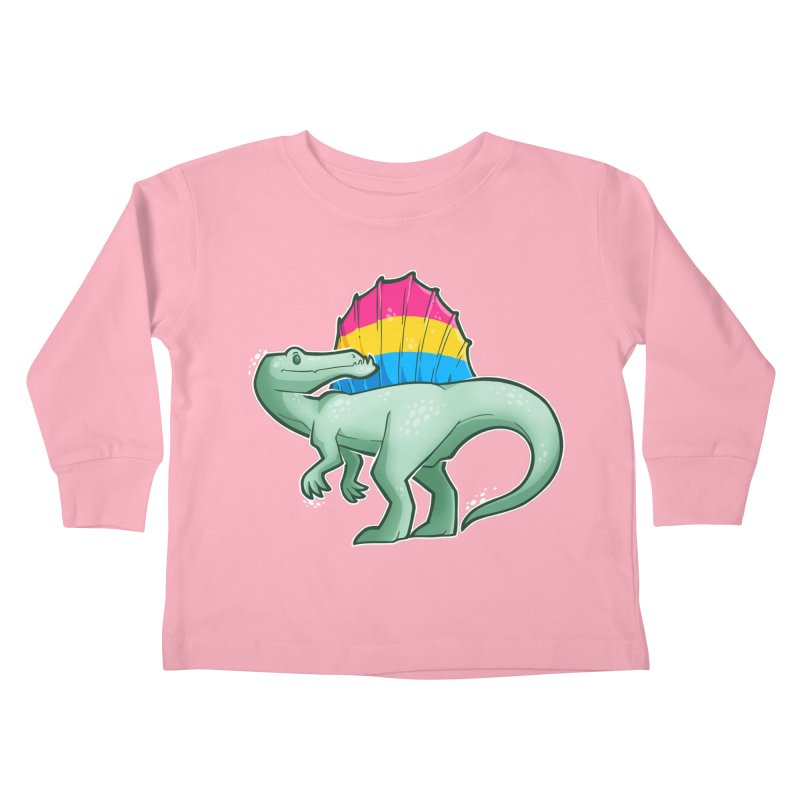 sPANosaurus Kids Toddler Longsleeve T-Shirt by Marty's Artist Shop