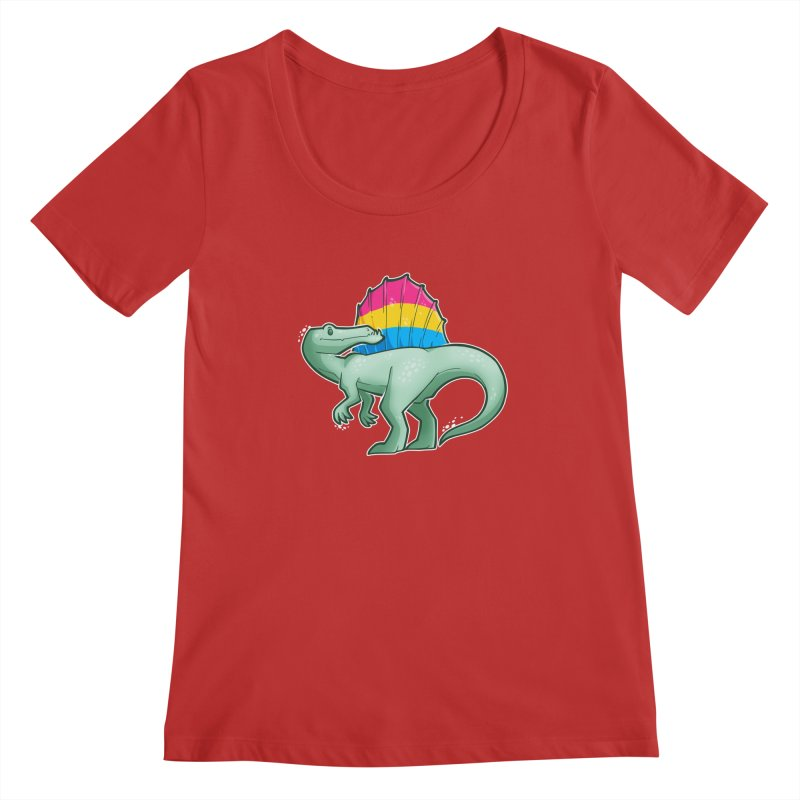 sPANosaurus Women's Regular Scoop Neck by Marty's Artist Shop