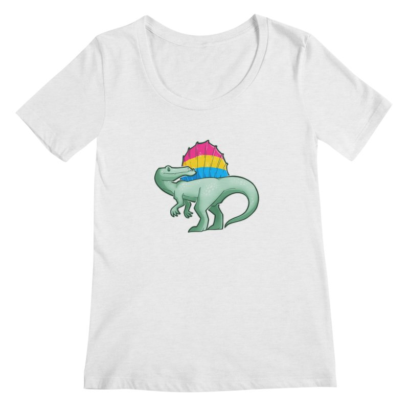 sPANosaurus Women's Regular Scoop Neck by Marty's Artist Shop