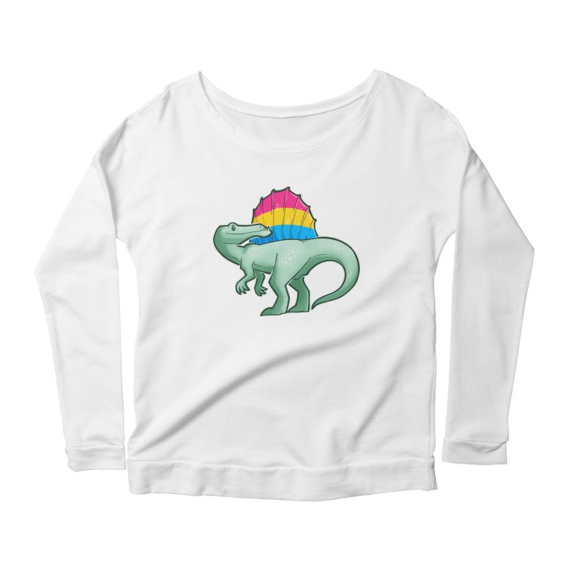 sPANosaurus Women's Scoop Neck Longsleeve T-Shirt by Marty's Artist Shop