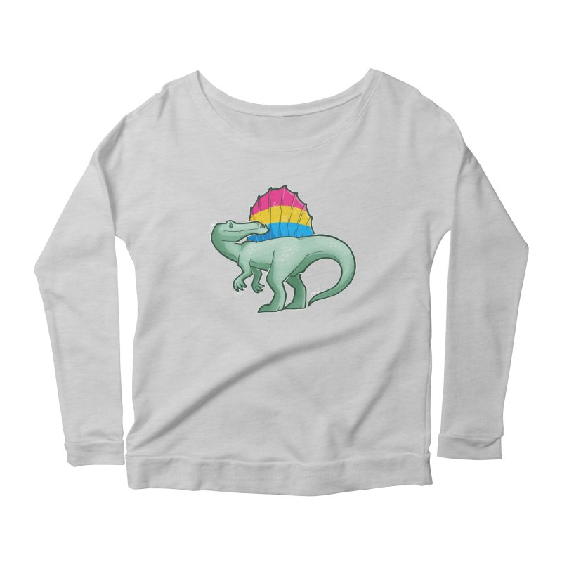 sPANosaurus Women's Scoop Neck Longsleeve T-Shirt by Marty's Artist Shop