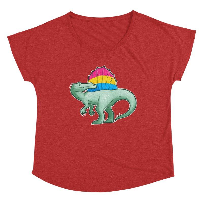 sPANosaurus Women's Scoop Neck by Marty's Artist Shop