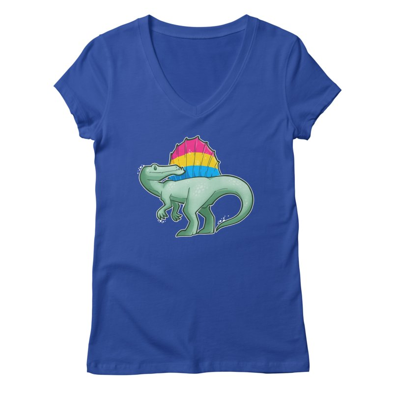 sPANosaurus Women's V-Neck by Marty's Artist Shop