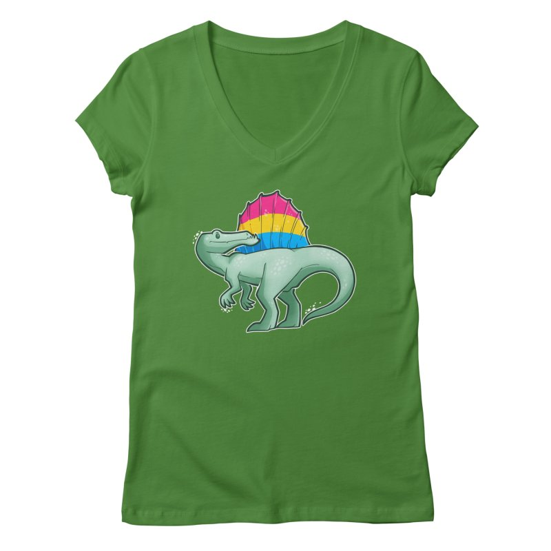sPANosaurus Women's V-Neck by Marty's Artist Shop