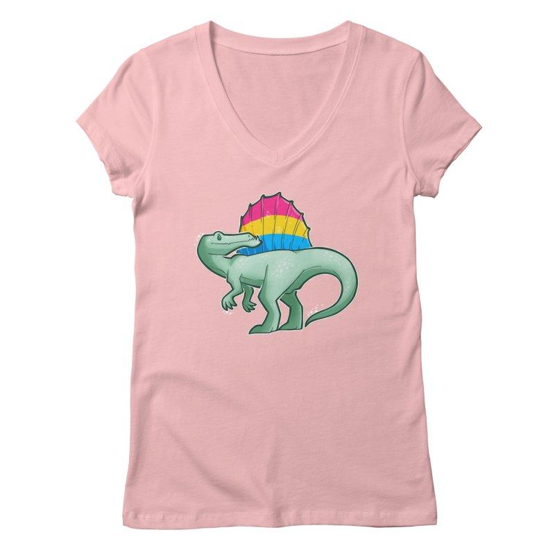 sPANosaurus Women's Regular V-Neck by Marty's Artist Shop