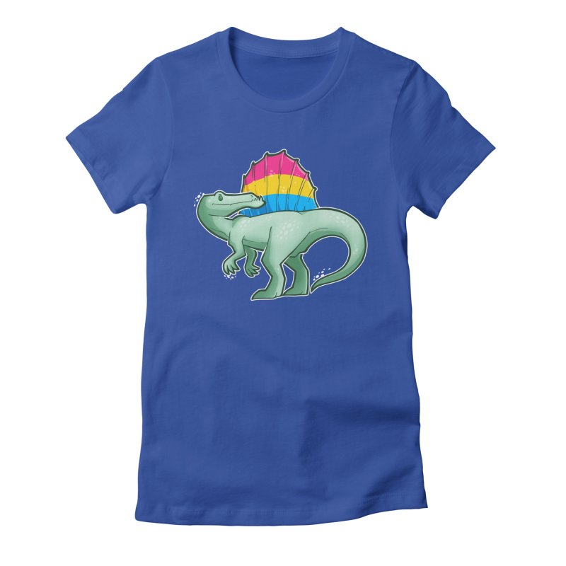 sPANosaurus Women's Fitted T-Shirt by Marty's Artist Shop