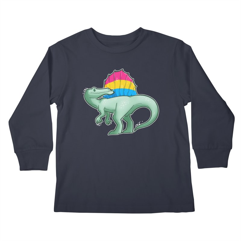 sPANosaurus Kids Longsleeve T-Shirt by Marty's Artist Shop
