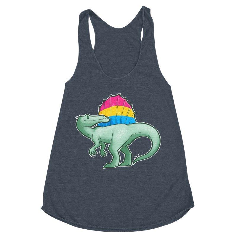 sPANosaurus Women's Racerback Triblend Tank by Marty's Artist Shop
