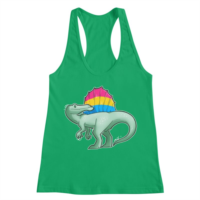 sPANosaurus Women's Racerback Tank by Marty's Artist Shop