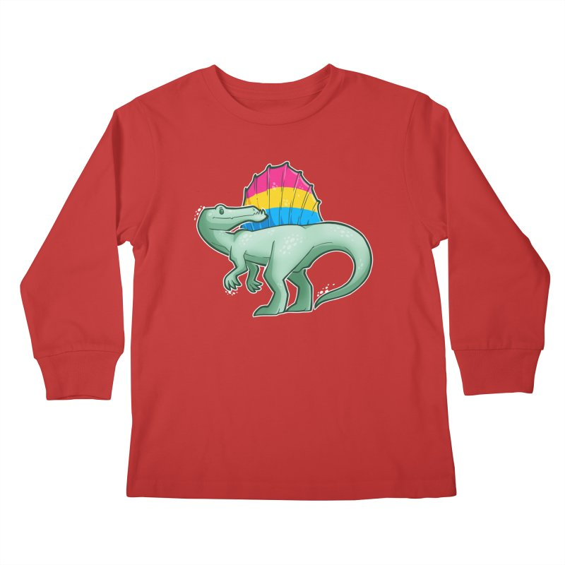sPANosaurus Kids Longsleeve T-Shirt by Marty's Artist Shop