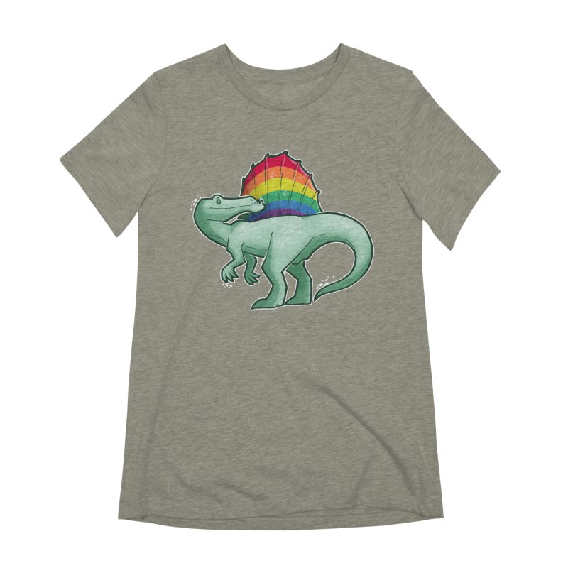 Spinosaurus Pride Women's Extra Soft T-Shirt by Marty's Artist Shop