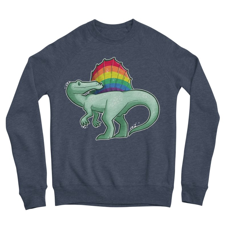 Spinosaurus Pride Men's Sponge Fleece Sweatshirt by Marty's Artist Shop