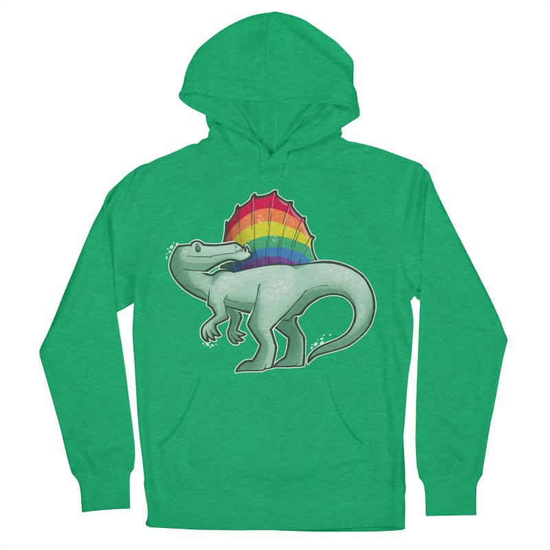 Spinosaurus Pride Men's French Terry Pullover Hoody by Marty's Artist Shop