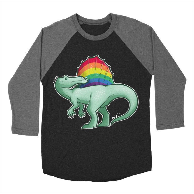 Spinosaurus Pride Men's Baseball Triblend Longsleeve T-Shirt by Marty's Artist Shop